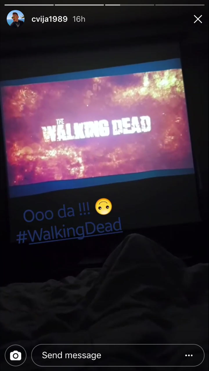 instagram cvija gleda walking dead